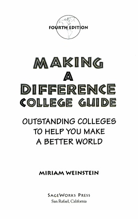 Making a Difference College Guide PDF