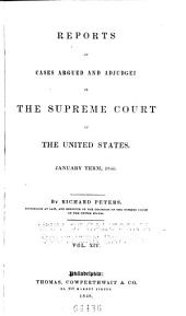 United States Reports: Cases Adjudged in the Supreme Court, Volume 39