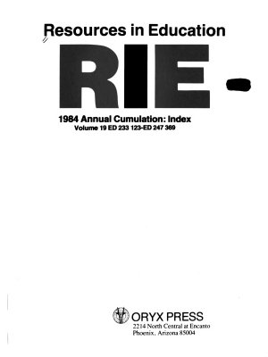 Resources in Education Annual Cumulation PDF