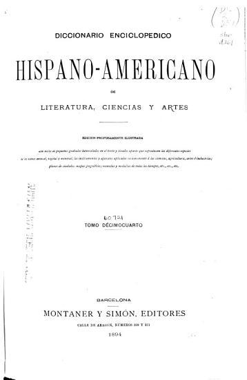 Diccionario enciclopedico hispano americano de literatura  ciencias y artes PDF