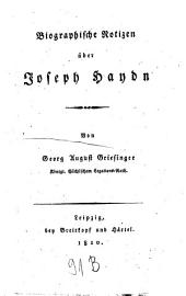 Biographische Notizen über Joseph Haydn