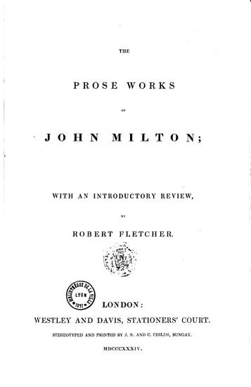 The Prose Works PDF