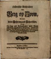 Historische Nachrichten von Berg op Zoom PDF