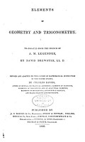 Elements of Geometry and Trigonometry Translated from the French of A M  Legendre by David Brewster PDF