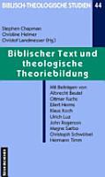 Biblischer Text und theologische Theoriebildung PDF