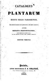 Catalogus plantanum horti regii Parisiensis