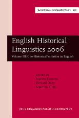 English Historical Linguistics 2006 PDF