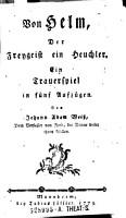 Von Helm  Der Freygeist ein Heuchler PDF