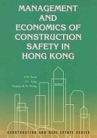 Management and Economics of Construction Safety in Hong Kong PDF