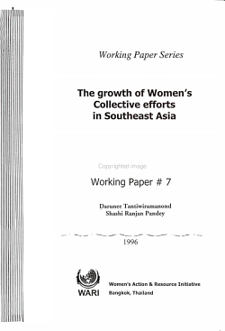 The Growth of Women s Collective Efforts in Southeast Asia PDF