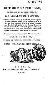 Histoire naturelle generale et particuliere: Volume45