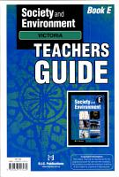 Society and Environment  E  Teachers Guide PDF
