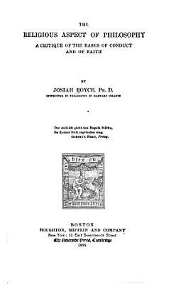 The Religious Aspect of Philosophy PDF