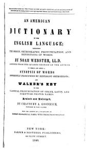 An American Dictionary of the English Language ...