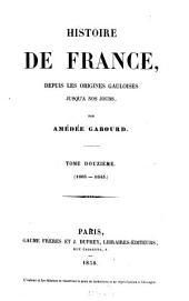 Histoire de France, depuis les origines gauloises jusqu'à nos jours: Volume12