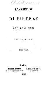 L'assedio di Firenze: Capitoli XXX.