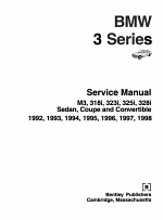 Bentley BMW 3 Series Service Manual 1992-1998