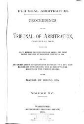 Fur Seal Arbitration: Volume 15
