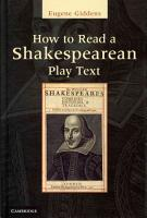 How to Read a Shakespearean Play Text PDF