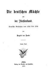Die deutschen Mächte und der Fürstenbund: Band 2