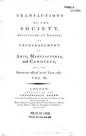 Transactions of the Society for the Encouragement of Arts