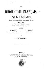 Le droit civil français: Volume5