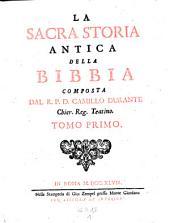 La sacra storia antica della bibbia: Volume 1