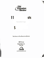 11 Practice Tests for the SAT   PSAT PDF