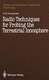 Radio Techniques for Probing the Terrestrial Ionosphere