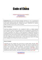 GB, GB/T, GBT Chinese Standard(English-translated version) - Catalog
