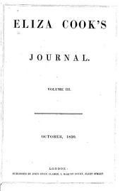 Eliza Cook's Journal: Volume 3