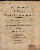 Untersuchungen über den Mittelstock von Tamus Elephantipes L.: eine Inaugural-Dissertation ...