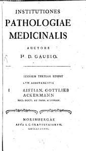 Institutiones pathologiae medicinalis