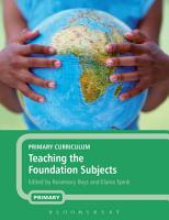 Primary Curriculum   Teaching the Foundation Subjects PDF