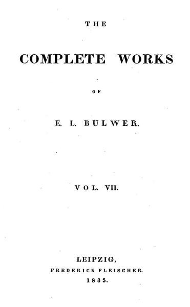 Download The Complete Works of E  L  Bulwer Book