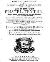Postilla evangelica of schriftmaatige verklaaringe over alle de zon- en feest-dagse epistel-texten: Volume 1