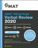 GMAT Official Guide 2020 Verbal Review Book