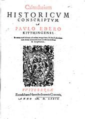 Calendarium Historicvm Conscriptvm