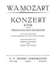 Konzert B dur (K.V. 450) für Klavier und Orchester