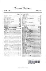 Personnel Literature, Volume 38, Number 1