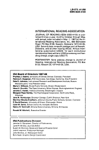 Journal of Reading PDF