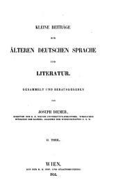 Kleine Beiträge zur älteren deutschen Sprache und Literatur: Band 2