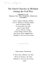 The Dutch Churches in Michigan During the Civil War PDF