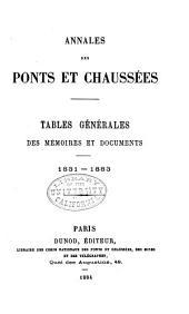 Annales des ponts et chaussées: Partie technique. Mémoires et documents relatifs a l'art des constructions et au service de l'ingénieur, Volume1