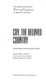 Readings on Cry, the Beloved Country