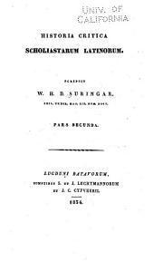 Historia critica scholiastarum latinorum: Volume 2