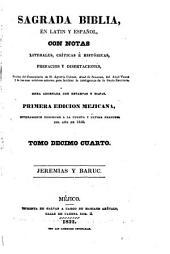 Sagrada Biblia: en latin y español, con notas literales, críticas é históricas, prefacios y disertaciones, sacadas, Volumen 14