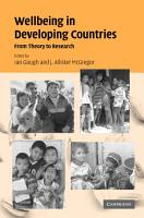 Wellbeing in Developing Countries PDF