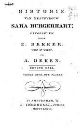 Historie van mejufvrouw Sara Burgerhart: Volume 1
