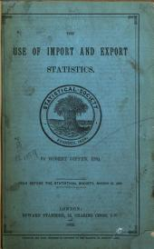 The Use of Import and Export Statistics